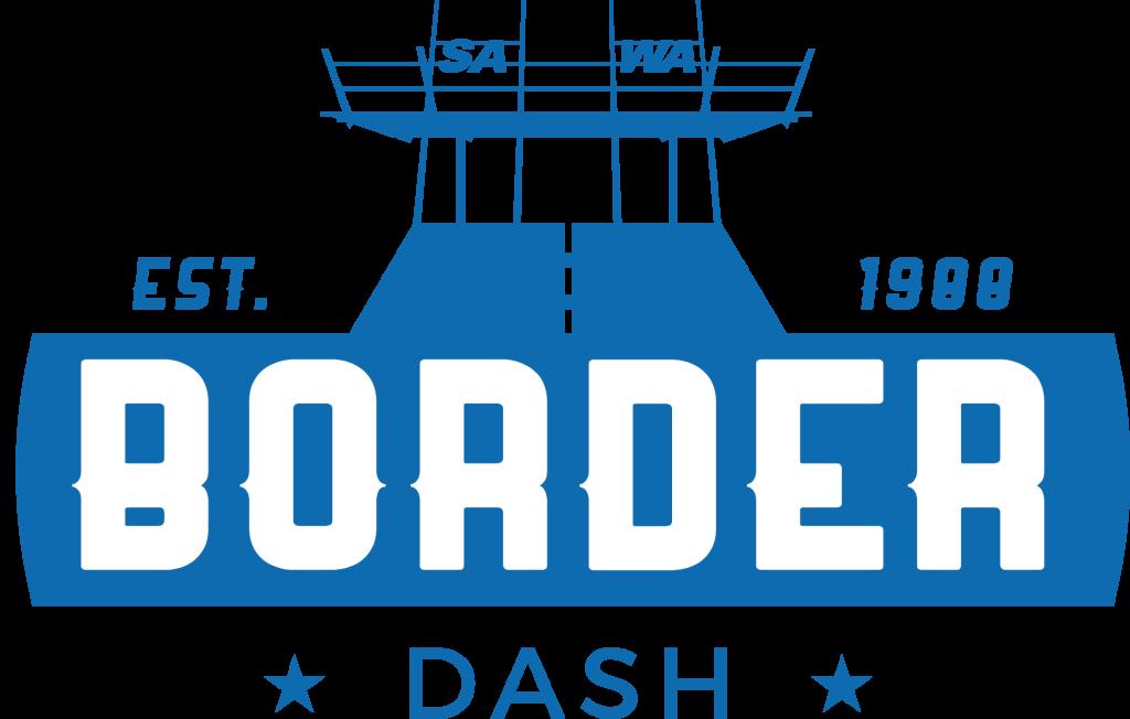 Border Dash Logo 17 Blue